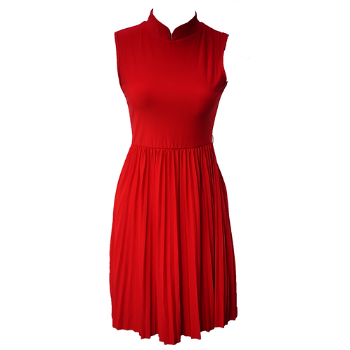 Chic Simple Dress - Red