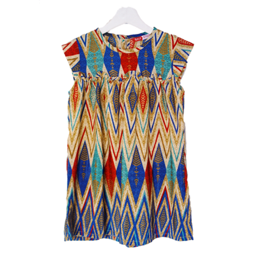 Batik Kid Dress Sale Stock - Blue