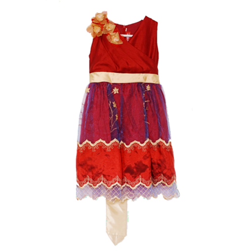 Baloon Kid Dress - Maroon Ukuran 6