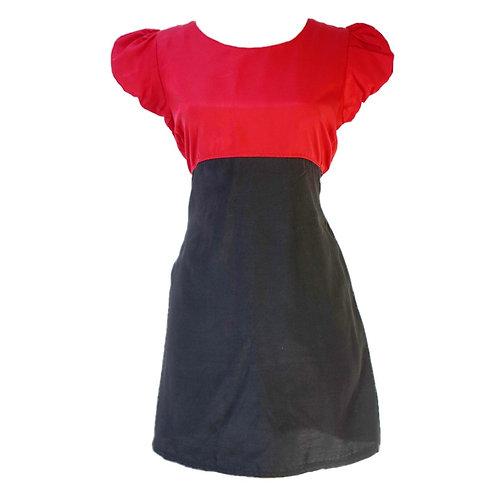 Red & Black Magnolia Dress