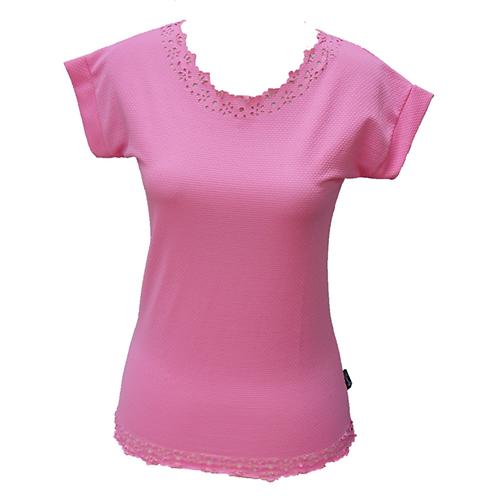 Pink Laser Cut Shirt