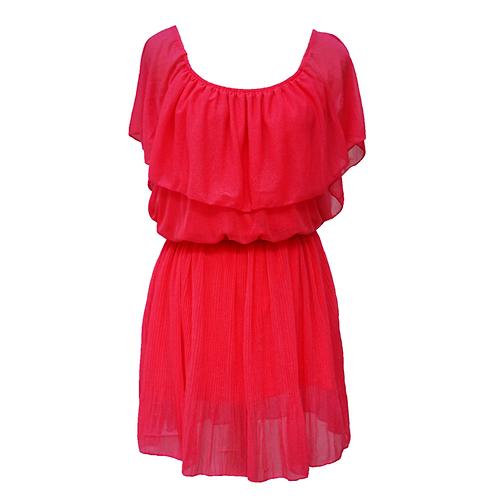 Open Shoulder Dress Pink