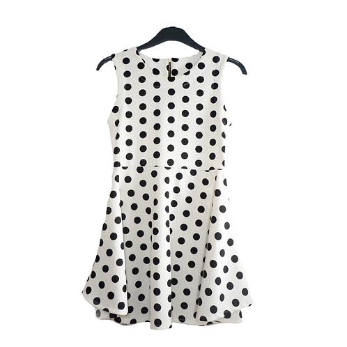 Polkadot Dress White & Black