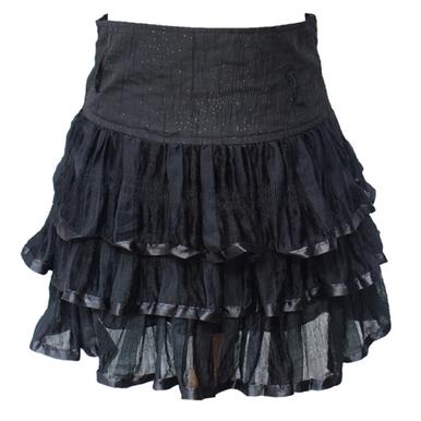 Ruffle Black Skirt