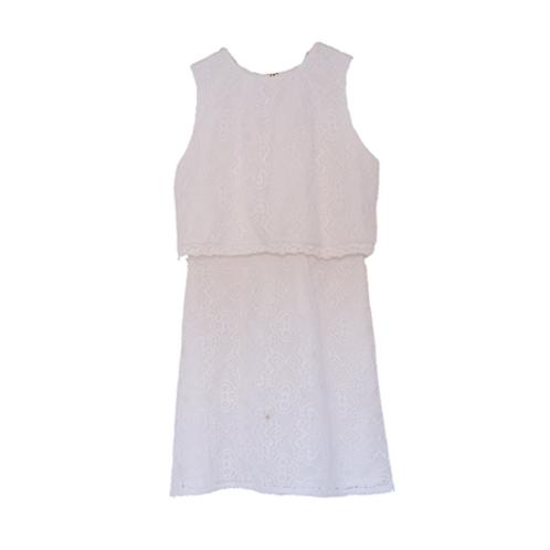 Lace Kid Dress - White