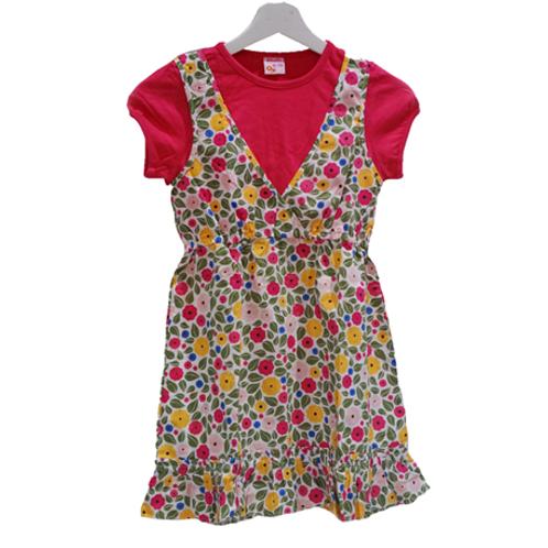 Pitodito Flower Dress - Pink & Green