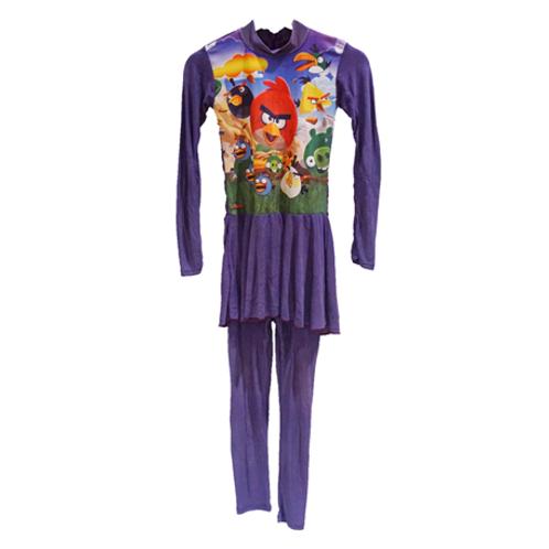Baju Renang Angry Bird Panjang - Purple