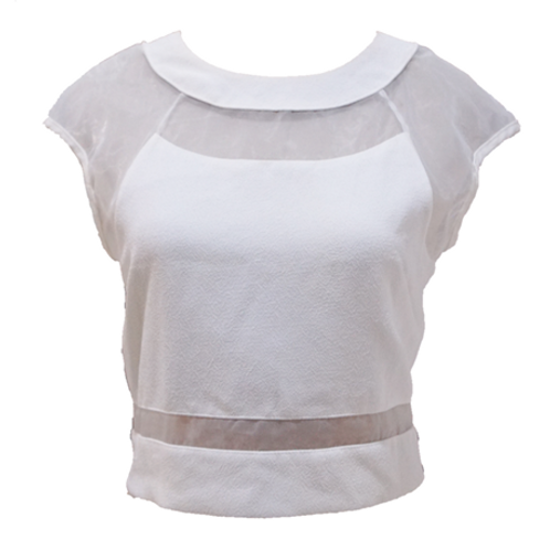 Jew Berry Shop Crop Top - White