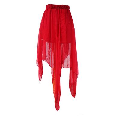 Asimetri Red Skirt