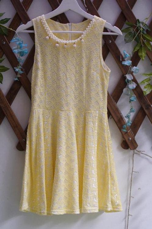 Yellow Dress Brukat