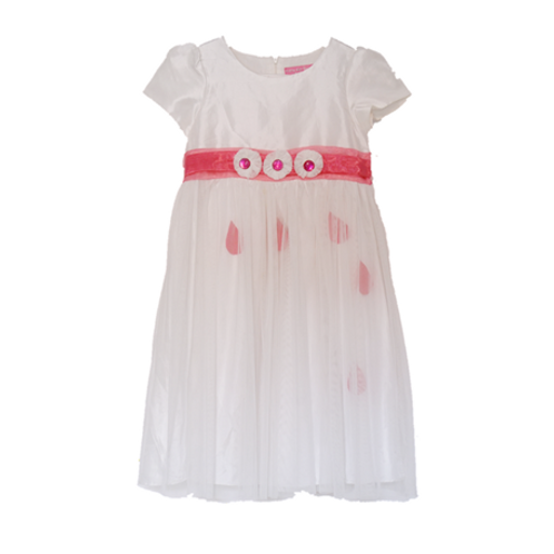 Pretty Girl Kid Dress with Pink Ribbon
