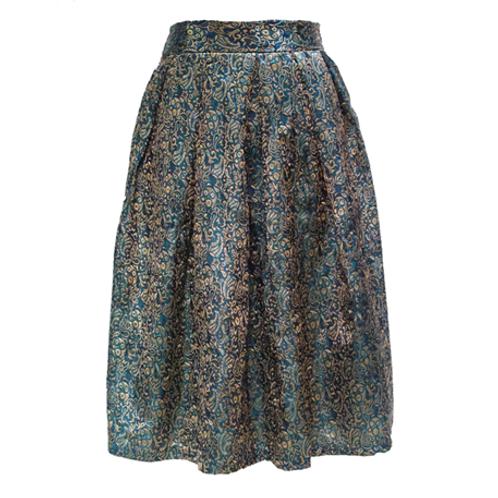 Classy's Closet Batik Skirt - Green
