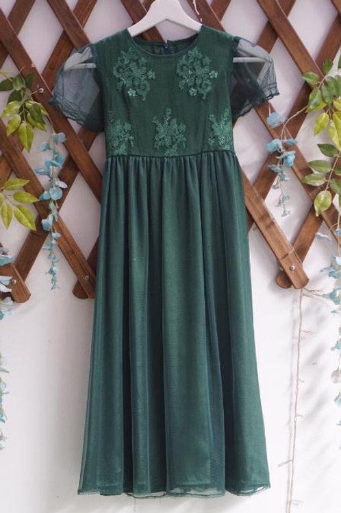 Green Brukat-Tulle Kiddress