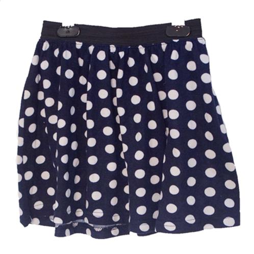 Polkadot Skirt - Navy