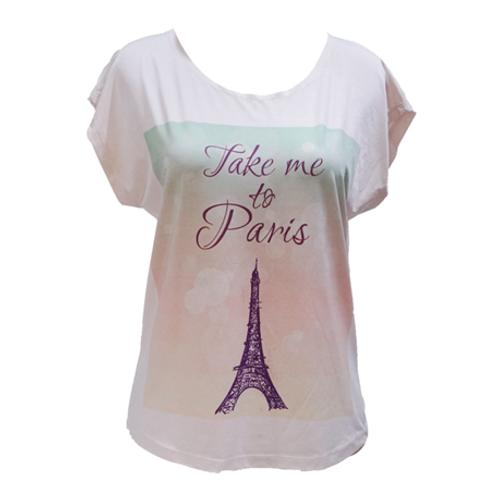 Spandex Shirt Take Me To Paris - White
