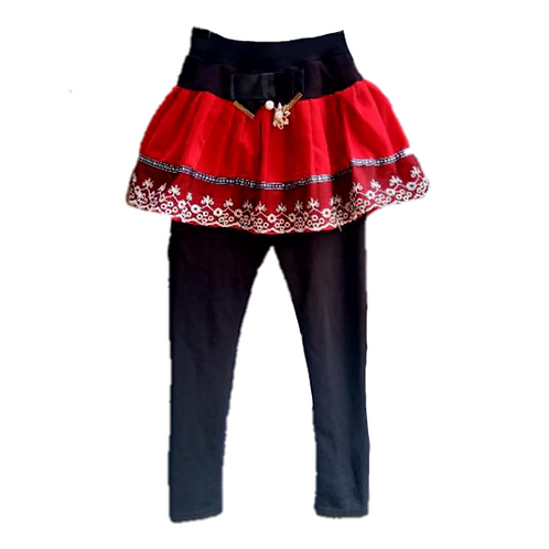 Skirtpants Merah-Hitam