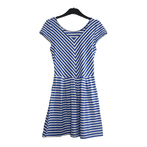 Simple Stripe Dress Blue and White