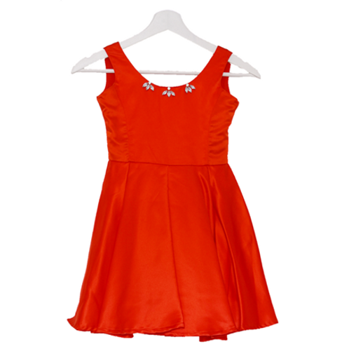 Party Kid Dress - Red Ukuran 6