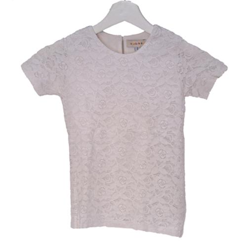 Spigola Lace Shirt - White Ukuran 8