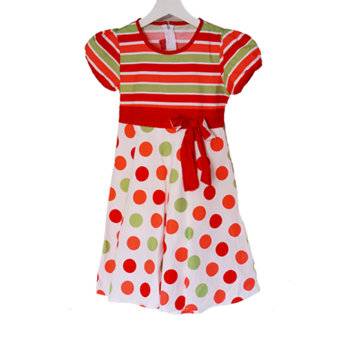 Lucky Colorful Polkadot Kid Dress