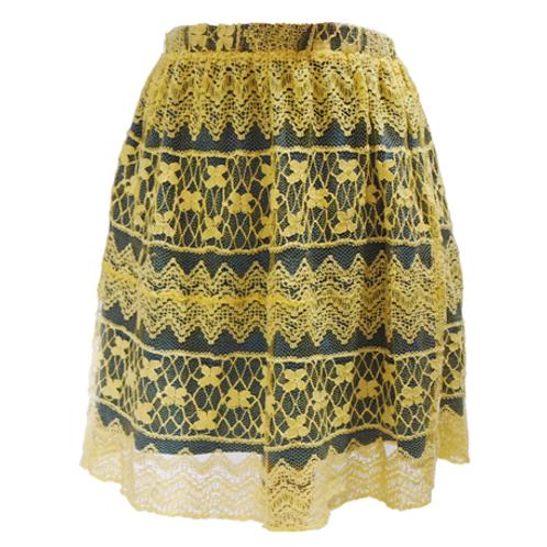 Lace Skirt - Yellow