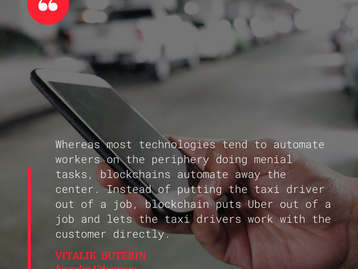 Will the blockchain technology put Uber out of a job?