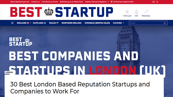 TIIQU among the Best Reputation Companies in London