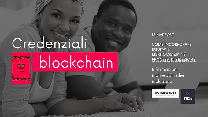 Blockchain credentials: unalterable information to facilitate inclusion   Milan Digital Week 2021
