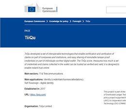 Find TiiQu at #DLT4Good, the EU commission tool scanning DLT for social and public goals