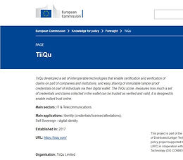 Find TiiQu at #DLT4Good, the EU commission tool scanning DLT for social and public goals