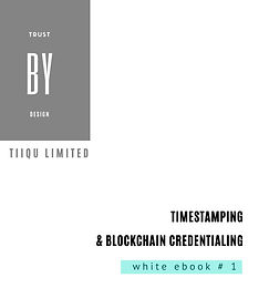 White eBook #1 - DLT for blockchain-based certification and Time  Stamping