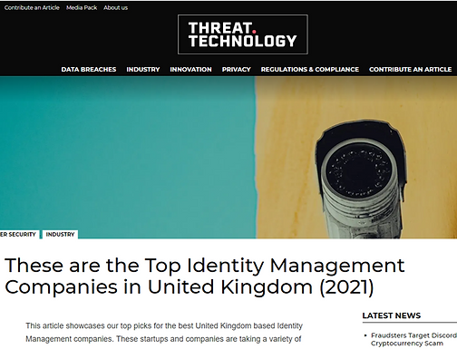 These are the Top Identity Management Companies in United Kingdom (2021)