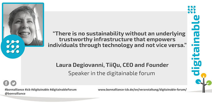 Ceo Laura Degiovanni at Digitanable Forum - Mindful use of Digitalization and Artificial Intelligence (D&AI) for the SDGs