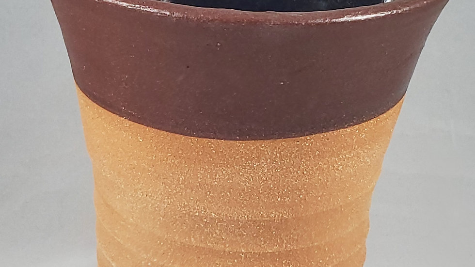 Brown drinking cup