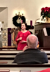 Signing Christmas Worship at Covenant Chapel