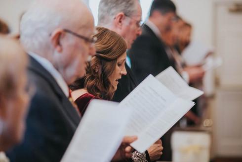 Hymn Singing at Covenant Chapel