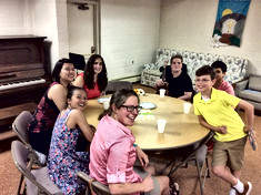Our Youth Enjoying Coffee Hour at Covenant Chapel