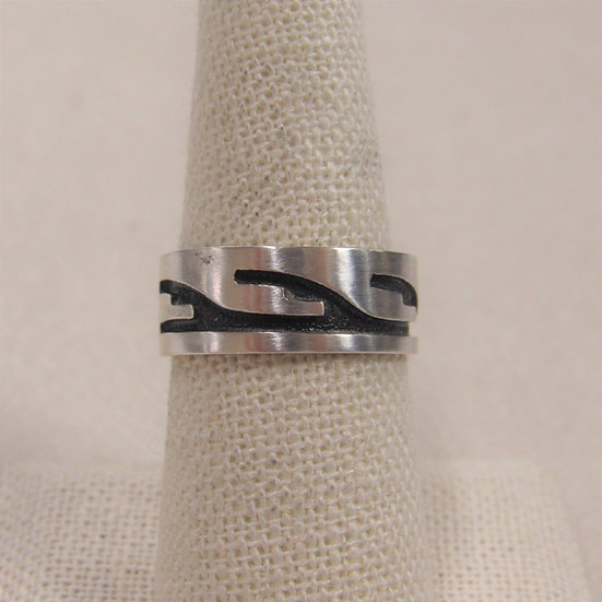 Southwest Sterling Silver Band Ring Size 8