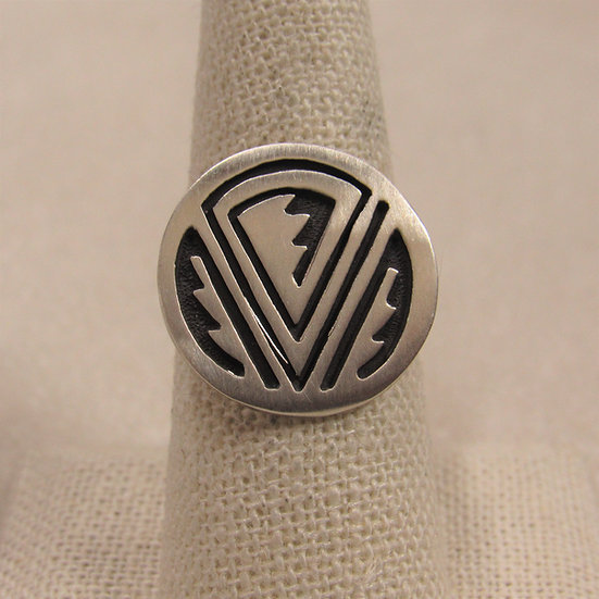 Sterling Silver Geometric Southwest Ring