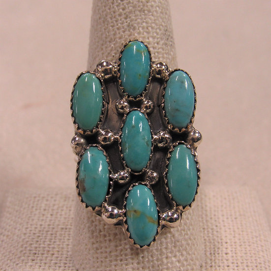 Sterling Silver and Turquoise Statement Ring by Roberta Begay
