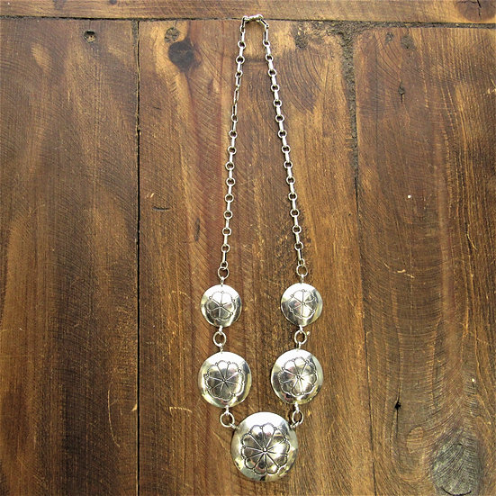 Vintage Sterling Silver Necklace by Navajo Fred Guerro