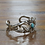 Thumbnail: Vintage Sterling Silver and Turquoise Sandcast Cuff Bracelet