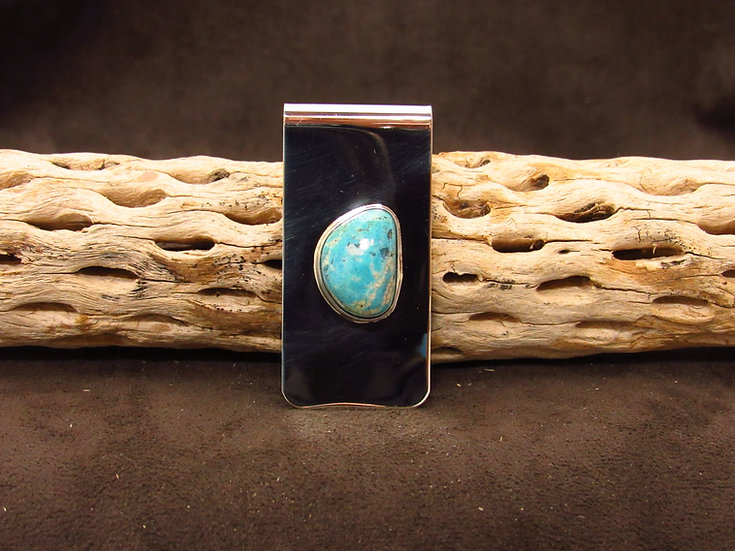 Navajo Money Clip with Turquoise Stone