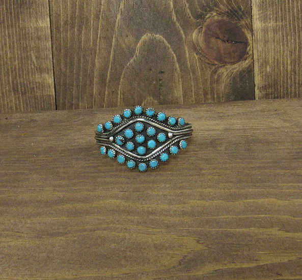 Southwest Sterling Silver and Turquoise Cuff Bracelet