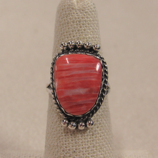 Southwest Sterling Silver and Spiny Oyster Ring By Ben Taylor Riggs