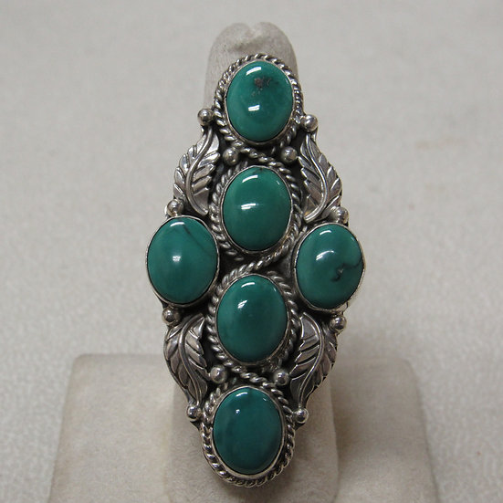 Sterling Silver and Turquoise Statement Ring by Geraldine James