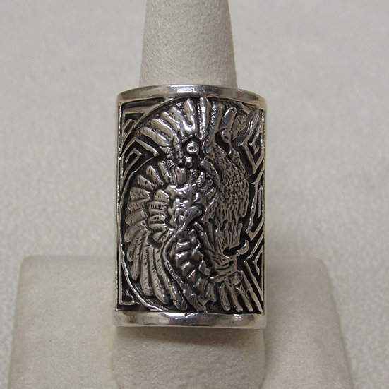 Southwest Sterling Silver Eagle Ring Size 9 1/2