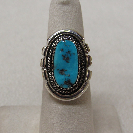 Sterling Silver and Turquoise Southwest Ring Size 6 1/4