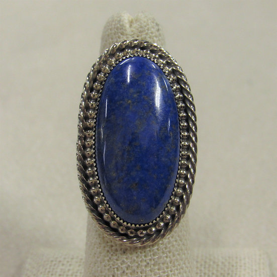 Large Southwest Lapis and Sterling Silver Statement Ring