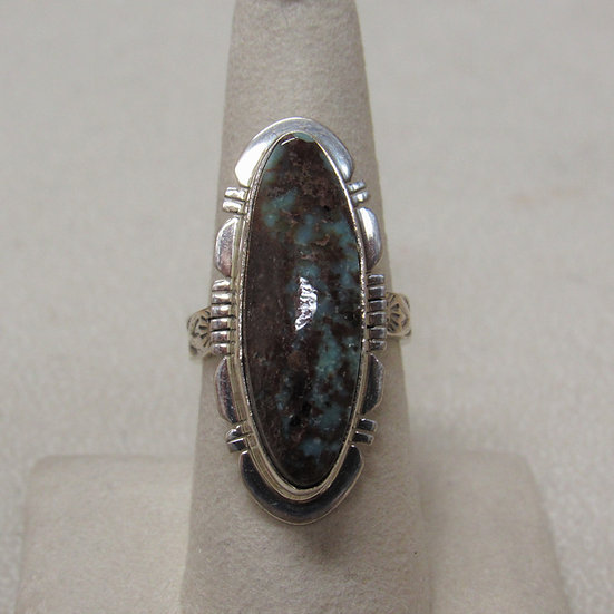 Sterling Silver and Turquoise Southwest Ring By P Sanchez